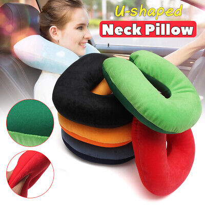 Soft Comfort Microbead Travel Neck Pillow Cushion Sleep Support Car Home Sleep