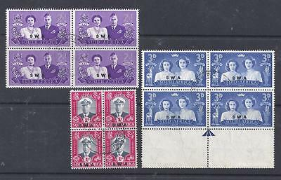 South West Africa, Kgv1, 1947 Royal Visit, Sg 134-36, Fine Used Blocks 4