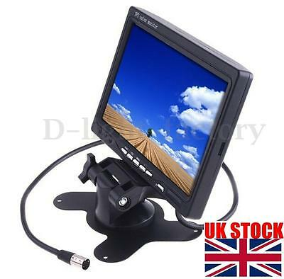 "7"" TFT LCD Color Screen Reversing Monitor For Car Reverse Rear View CCTV Camera"