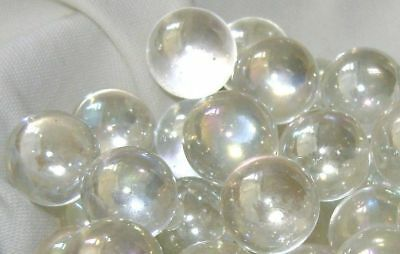 NEW 10 SOAP BUBBLE 14mm GLASS MARBLES TRADITIONAL GAME or COLLECTOR'S ITEMS HOM
