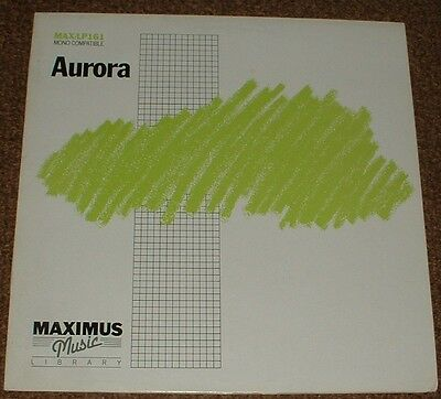 MUSIC LIBRARY MAXIMUS aurora GALAXY*STARWAVE*VISION 1987 UK STEREO SYNTH LP