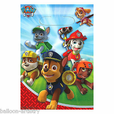 8 Paw Patrol Puppy Pets Birthday Party Gift Treat Plastic Favour Loot Bags