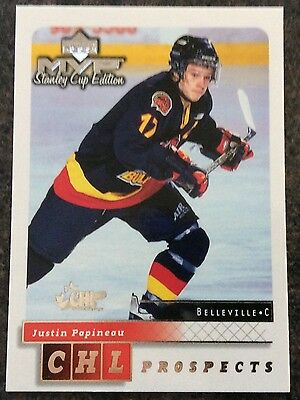 1999-00 Justin Papineau Ud Mvp Stanley Cup Edition Prospects Silver Script #216