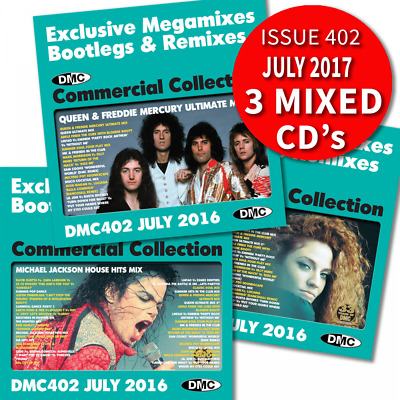 DMC Commercial Collection 402 Mixes & Two Trackers DJ Triple Music CD ft Queen