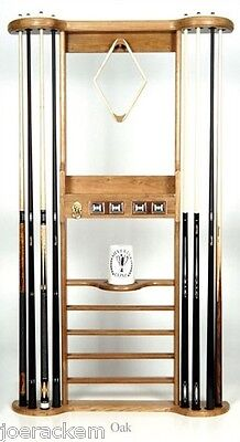 Deluxe (Imp) Solid Wood - 8 Cue -  Wall Mount - Color Options