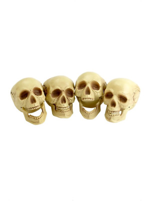 Skull Heads, 4 Pieces Decorations Decapitated Halloween Fancy Dress Accessory