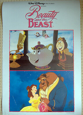 Beauty and the Beast (1991) Original UK Double Crown poster, Disney