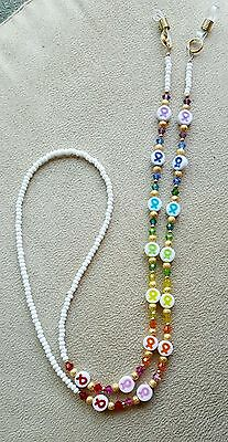 Awareness Ribbons Rainbow Eyeglass Chain MADE WITH Swarovski  Crystals Donation