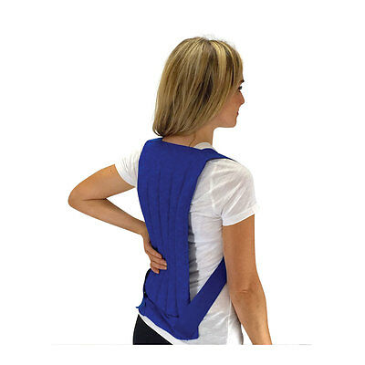 Lumbar Back & Spine Natural Hot/Cold Pack- Microwave Heat- Freezer Cold- Natural
