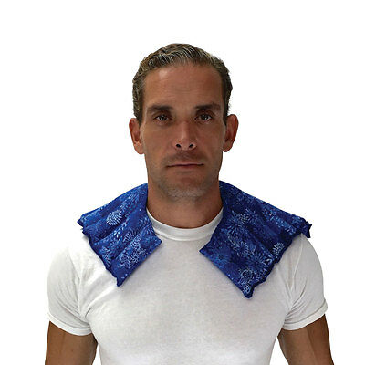 Shoulder & Neck Wrap- Microwave Heat or Freezer Cold Natural Therapy Pack-Relief