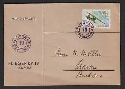 Switzerland WWII Active Service Air Force Fieldpost 19 USED Military Cover Z31