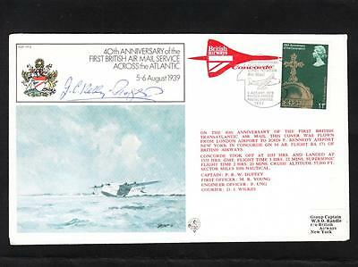Great Britain HAND SIGNED Capt J.C. Kelly-Rogers Concorde ONLY 1480 ZB