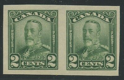 Canada 1929 KGV Scroll 2c Imperf Pair #150b VF MNH - 250 known