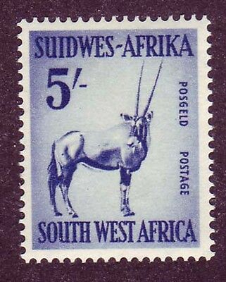 South West Africa 1954 5sh blue Sc #259 VF mlh