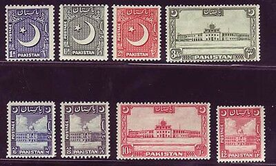 Pakistan 1949-53 issue complete Sc #47-54 mlh
