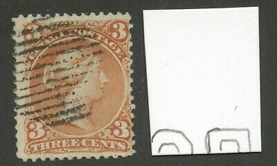 Canada 1868 Large Queen 3c red 'Watermarked' #25a used
