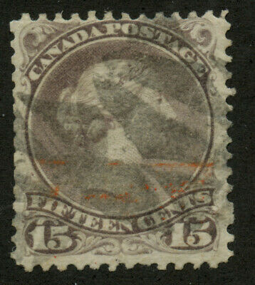 Canada 1868 Large Queen 15c greyish purple Perf 11.5x12 #29a used