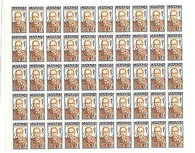 Canada 1969 Sir William Osler 6c Full sheet of 50 HIBRITE variety #495i VF MNH