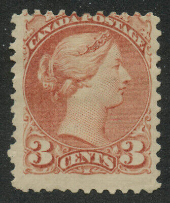 Canada 1870 Small Queen 3c rose Ottawa Printing #37a mhr