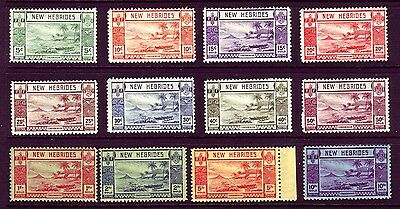 New Hebrides 1938 Beach Scene issue Sc #50-61 VF mlh