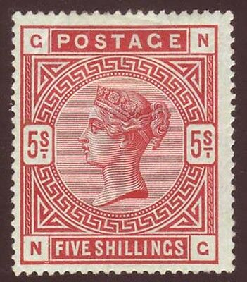 Great Britain 1884 QV 5sh rose Sc 108, SG 180 MOG