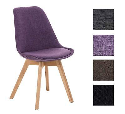 Chair BORNEO Natura Legs Tweed Seat Conference Dining Waiting Room Wooden Office