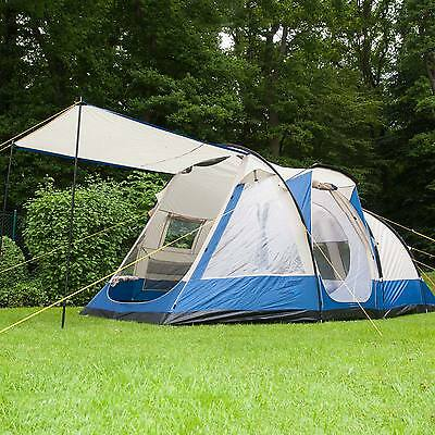 Skandika Lyon 5 Person/man Family Group Tent Sewn In Groundsheet 3000Mm Blue New