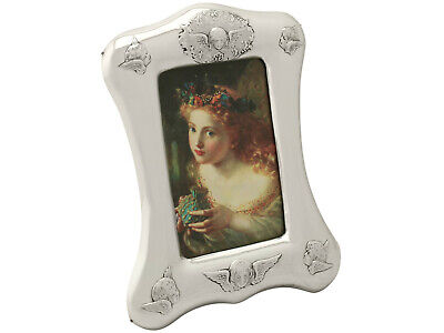 Antique Victorian Sterling Silver Photo Frame