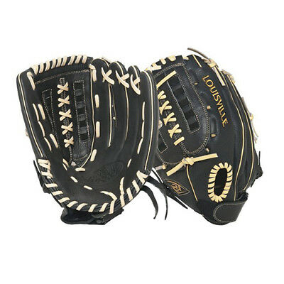 Louisville Slugger 13 Inch FG Dynasty Softball Glove, Black, Left Hand Throw