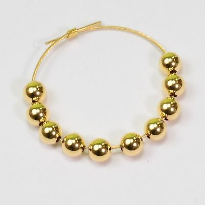 3mm 18k Solid Gold Smooth Round Bead Spacer (10)