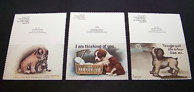 8 Vintage Dog Note Cards Gallery Graphics Litho Lithograph Reproductions Puppy