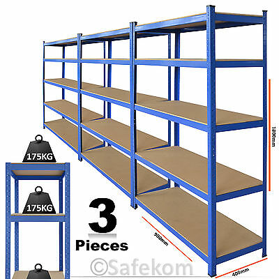 3 x 5 Tier Heavy Duty Boltless Shelving Warehouse Garage Workshop Storage Unit