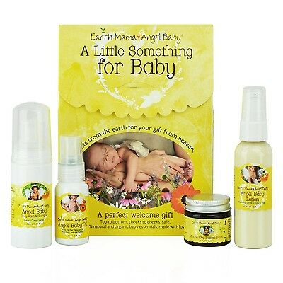 Earth Mama Angel Baby a Little Something for Baby Kit 4pieces gift set