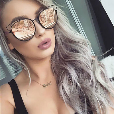 Fashion Sideral Sunglasses Designer Mirror Lens Cat Eye Celebrity Style