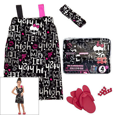 Monster High 4 Piece Spa Robe Gift Set - New