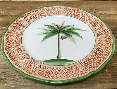 Vietri Dinner Plate #4 Oasi Oasis Palm Tree Scale Bamboo Green 153763 Italy Leaf & VIETRI DINNER PLATE #4 Oasi Oasis Palm Tree Scale Bamboo Green ...