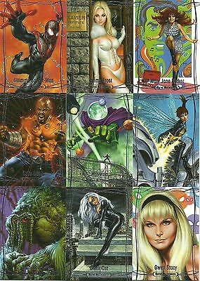 2016 Upper Deck Marvel Masterpieces Near Complete Base Set 1 - 36 Jusko #ed 1999