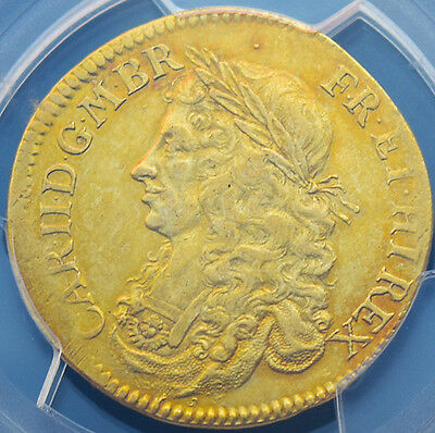 KING CHARLES THE II 1662 GOLD BROAD  EXTRA FINE  Fantastic Coin..