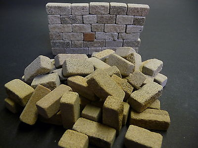 24 sq ins 9mm Miniature York Cottage Stone Blocks *BUILD REAL STONE MODELS FAST*