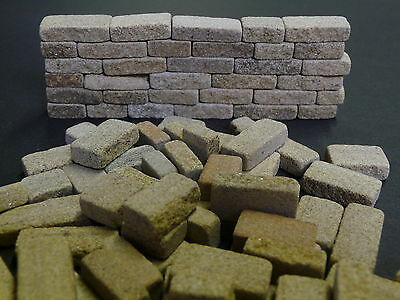 18 sq ins 6mm Miniature York Cottage Stone Blocks *BUILD REAL STONE MODELS FAST*