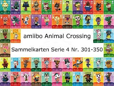 amiibo Animal Crossing Karte Nr. 301 - 350 Serie 4 Happy Home Designer, NEU