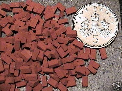 250 Real Miniature Bricks For Model Railways O Gauge