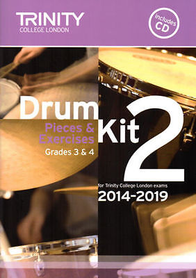 Trinity College Drum Kit 2 with CD Grades 3+4 2014-2019 - Same Day P+P