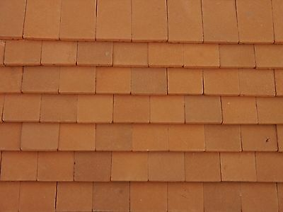 50 Real Brick 1:12th Dirty Red Miniature Roof Tiles for Dollshouses