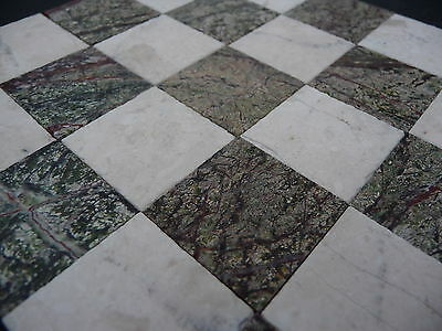 25 Real Cream & Green 3mm Marble Dolls House Floor Tiles