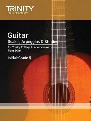 Trinity College Guitar Scales & Exercises Initial to G5 from 2016 - Same Day P+P