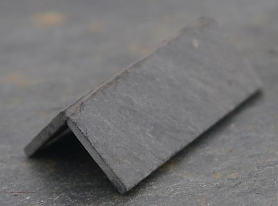 PACK OF 10 1:12th REAL SLATE ANGLED RIDGE TILES