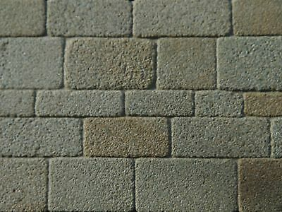 25 Sq Ins GREY COURSED MINIATURE GREY STONE SLIPS