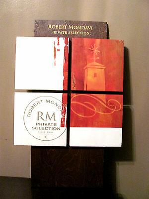 Robert Mondavi Private Selection Wine wood wooden Sign Advertising picture Art