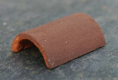 50 1:12th REAL BRICK CONKER ROUNDED RIDGE TILES